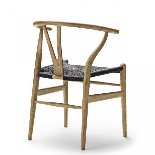 carl hansen ch24 wishbone chair with black seat