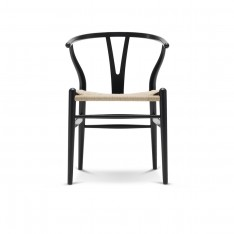 CH24 WISHBONE CHAIR - BLACK PAINTED