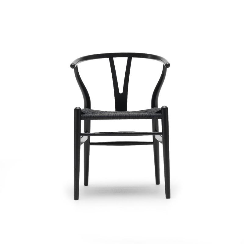 carl hansen ch24 wishbone chair black painted with black seat