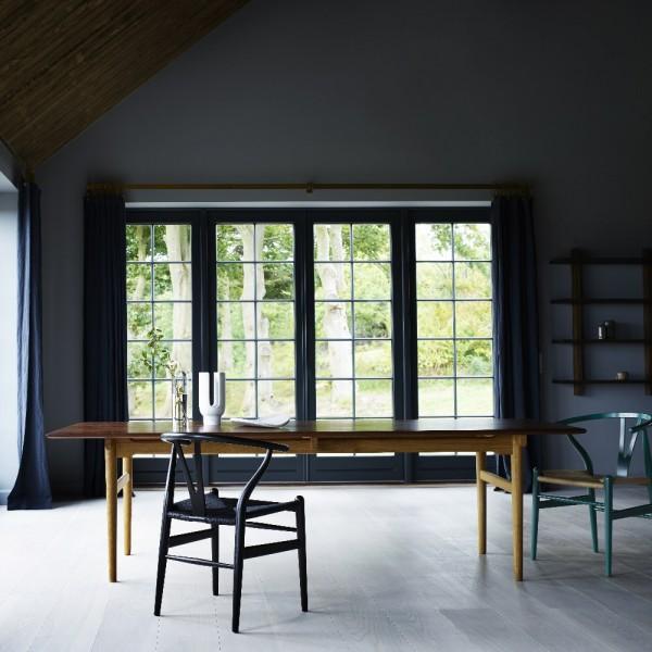 carl hansen ch24 wishbone chair chs colour painted with black seat