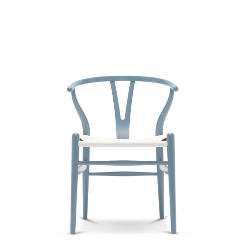 CH24 WISHBONE CHAIR - CHS COLOUR + WHITE SEAT
