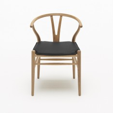 CUSHION CH24 WISHBONE CHAIR  - LEATHER