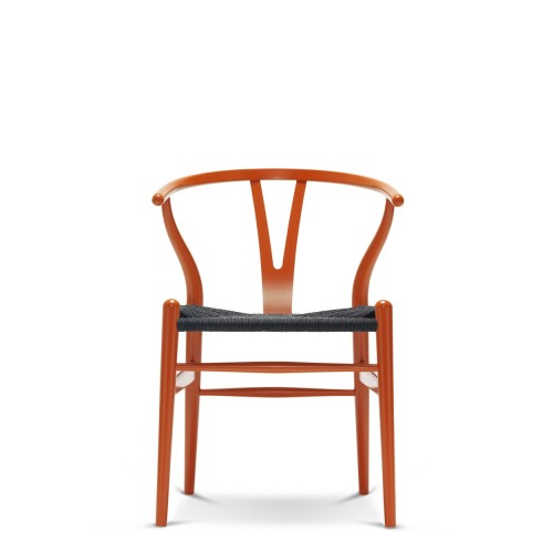 CH24 WISHBONE CHAIR - CHS COLOUR + BLACK SEAT