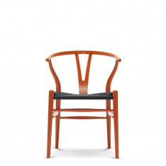 CH 24 WISHBONE CHAIR - COULEUR CHS + ASSISE NOIRE
