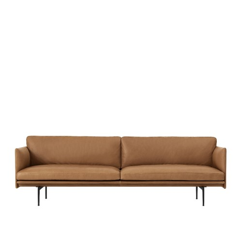 OUTLINE SOFA 3-ZIT - LEER