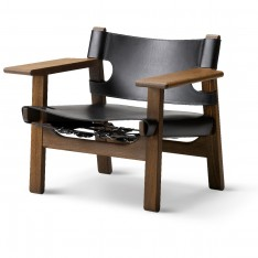 SPANISH CHAIR BLACK LEATHER