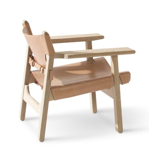 SPANISH CHAIR CUIR NATUREL