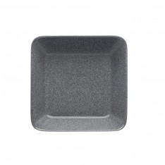 TEEMA PLATE 16X16CM DOTTED GREY