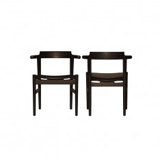 PP58 CHAIR - BLACK PAINTED/ BLACK LEATHER