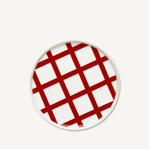 OIVA/SPALJE PLATE 20CM RED