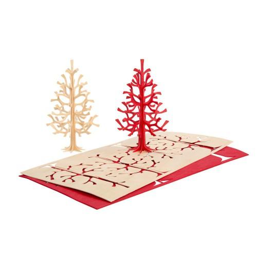 LOVI SPRUCE TREE 14CM BRIGHT RED