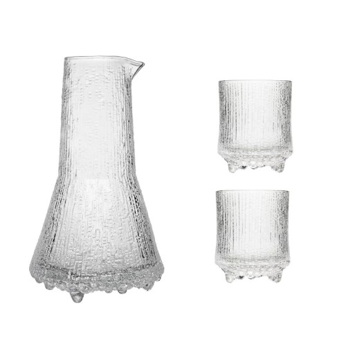 ULTIMA THULE PITCHER WITH 2 WATER GLASSES