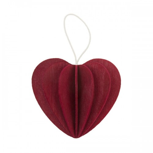 LOVI HEART 6,8CM DARK RED