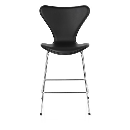 SERIES 7 BAR STOOL FRONT BLACK LEATHER