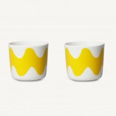 OIVA/LOKKI COFFEE CUP 2DL - 2PCS YELLOW