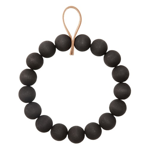 KRANSSI WREATH/TRIVET BLACK