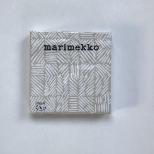 MARIMEKKO PAPER NAPKIN - LARGE - JUUSTOMUOTTI CREAM