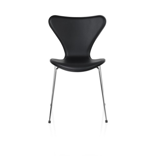 SERIES 7 CHAIR FRONT BLACK LEATHER