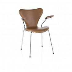 FRITZ HANSEN SERIES 7 ARMCHAIR WALNUT LEATHER