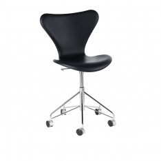 SERIES 7 SWIVEL CHAIR BLACK LEATHER