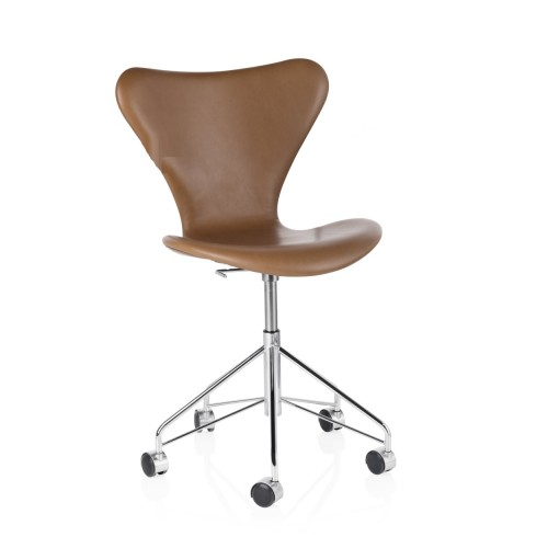SERIES 7 SWIVEL CHAIR WALNUT LEATHER