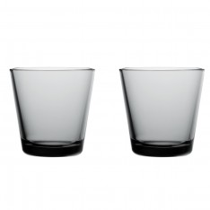 IITTALA KARTIO GLASS -21cl 2pcs grey