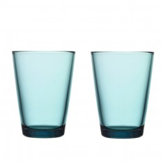 IITTALA KARTIO GLASS 40CL - 2PCS SEA BLUE