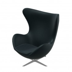 FRITZ HANSEN EGG CHAIR ESSENTIAL LEER ZWART