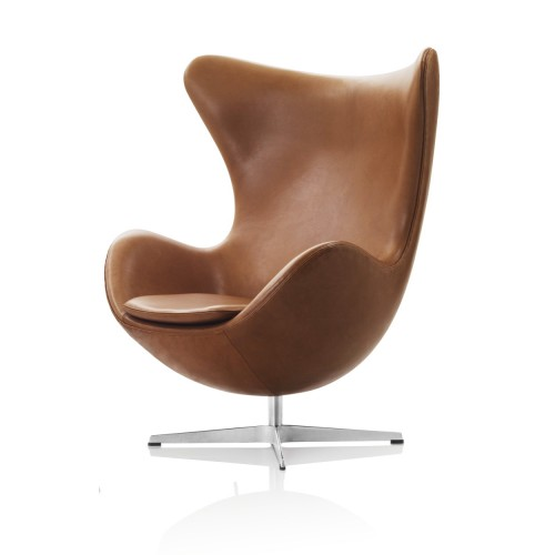 EGG CHAIR GRACE LEATHER WALNUT