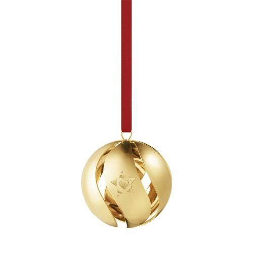 CHRISTMAS BALL 2019 - GOLD PLATED BRASS