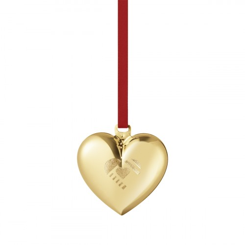 CHRISTMAS HEART 2019 - GOLD PLATED BRASS