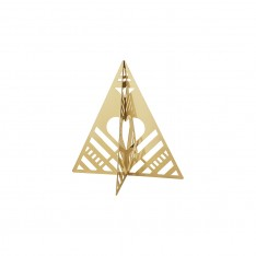 TABLE TREE, SMALL - GOLD PLATED BRASS