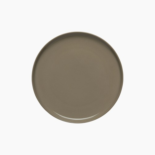 OIVA PLATE 20CM BROWN