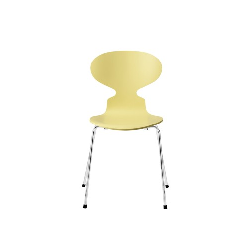 ANT CHAIR 3101 PALE YELLOW / CHROME