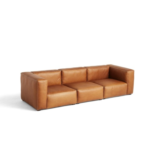 MAGS SOFT SOFA 3-SEATER - SILK LEATHER 0250 (COMBI 1)