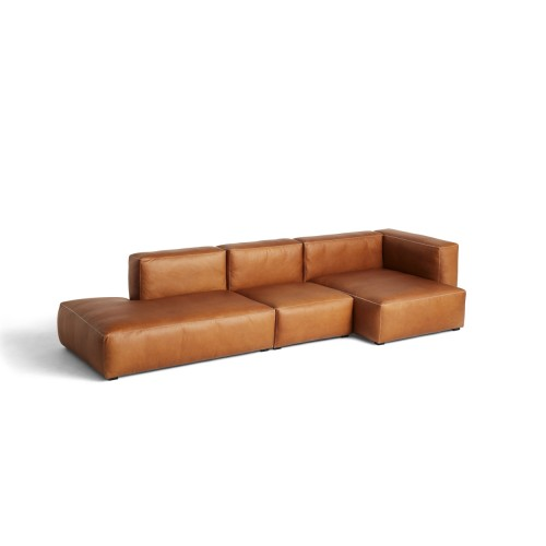 MAGS SOFT SOFA 3-SEATER - SILK LEATHER 0250 (COMBI 4R)