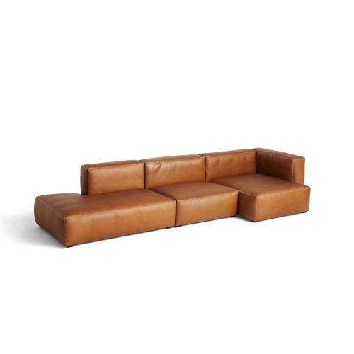 MAGS SOFT SOFA 3-SEATER - SILK LEATHER 0250 (COMBI 5R)