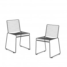HEE DINING CHAIR - 2 PCS NOIR