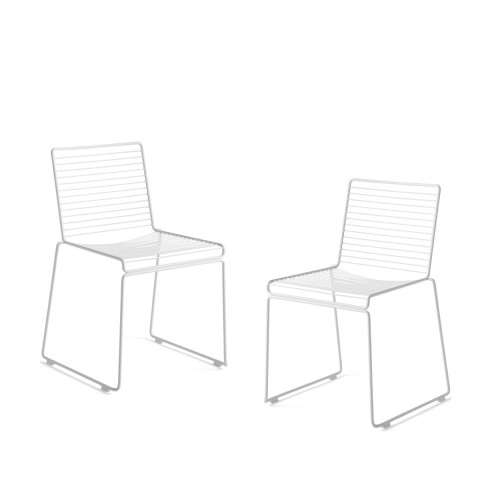 HEE DINING CHAIR - 2PCS WHITE