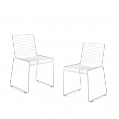 HEE DINING CHAIR - 2 PCS BLANC