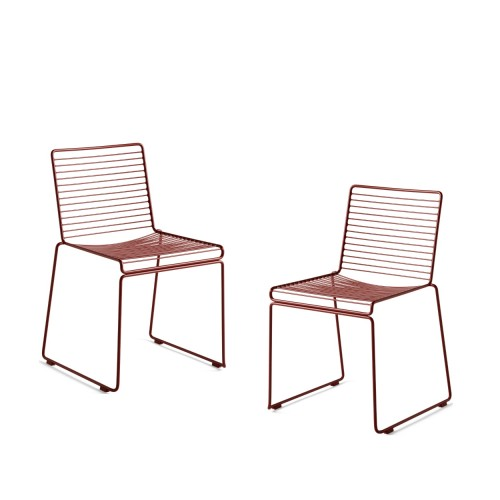 HEE DINING CHAIR - 2 PCS RUST