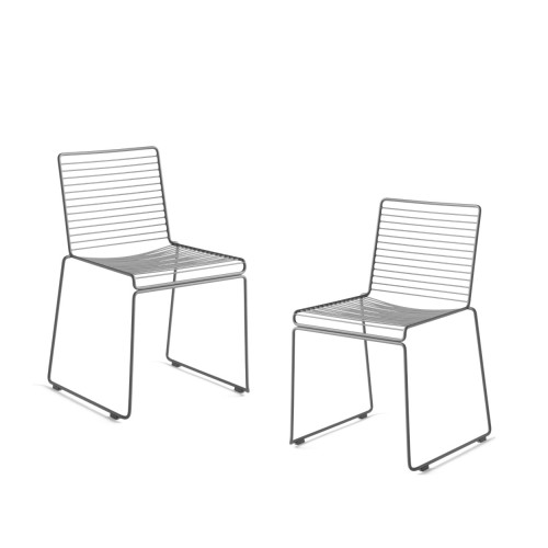 HEE DINING CHAIR - 2PCS ASPHALT GREY