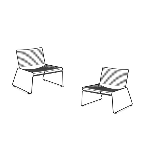 HEE LOUNGE CHAIR - 2PCS BLACK