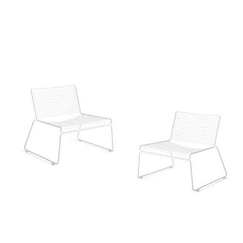 HEE LOUNGE CHAIR - 2 STUKS WIT