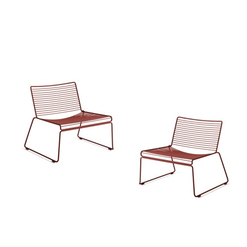 HEE LOUNGE CHAIR - 2PCS RUST
