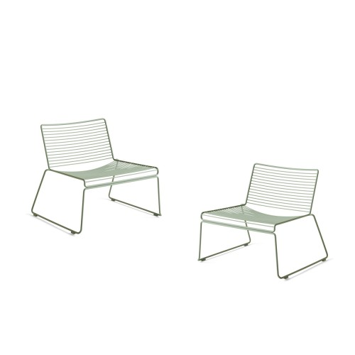 HEE LOUNGE CHAIR - 2STUKS FALL GREEN