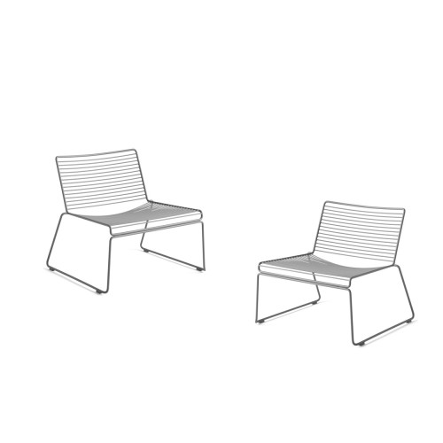 HEE LOUNGE CHAIR - 2 STUKS ASPHALT GREY