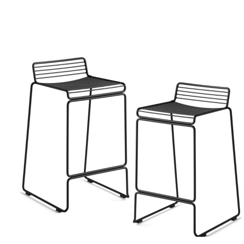 HEE BAR STOOL - 2PCS BLACK