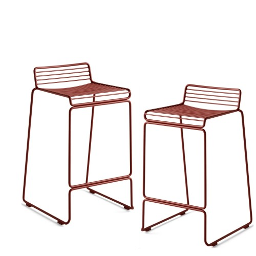 HEE BAR STOOL - 2PCS RUST