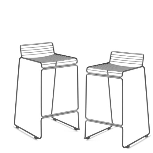 HEE BAR STOOL - 2PCS ASPHALT GREY